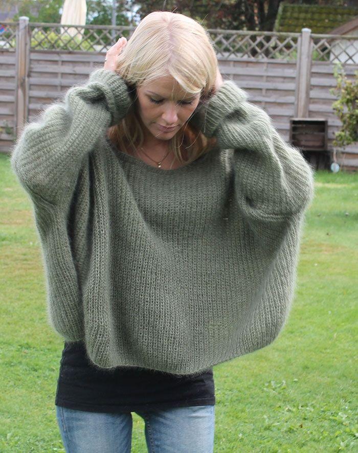 Strikkeopskrift Græsenke sweater