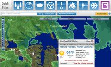 Interactive Weather Map - weather conditions, humidity, 10 day forecast, maps, radar, extensive info