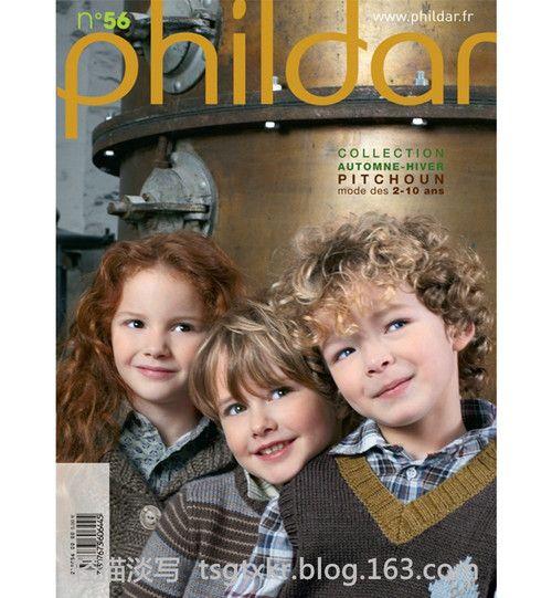 Phildar Pitchoun №56 2011 - 轻描淡写 - 轻描淡写-très beau pull garçon Antonin-rayé gris et marine et jacquard-