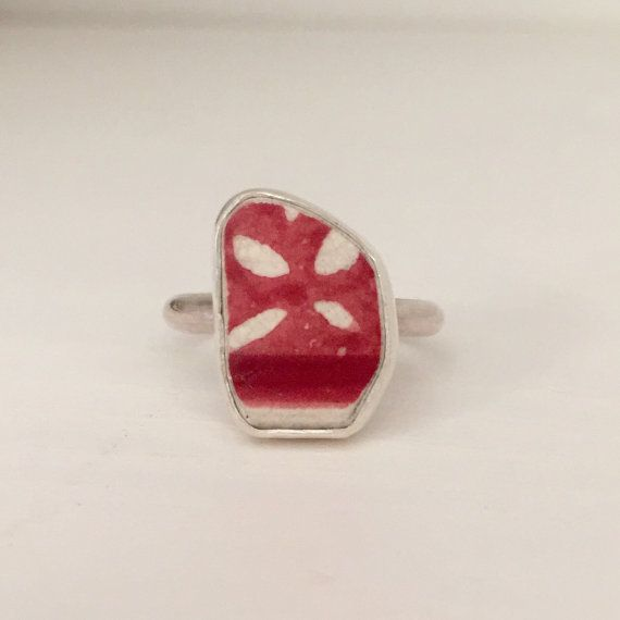 Red Sea Pottery Ring Beach Jewelry Gift for by ShopTidalTreasures