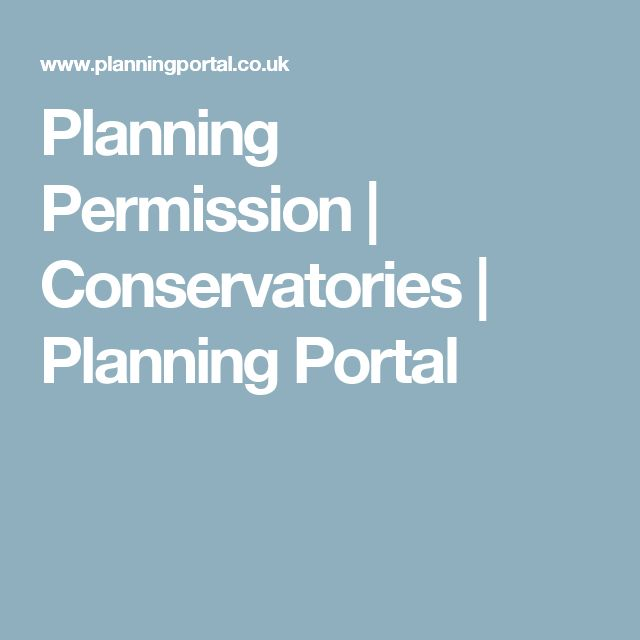 Planning Permission | Conservatories | Planning Portal
