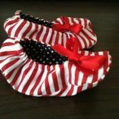 Baby ballet slipper tutorial - via @Craftsy