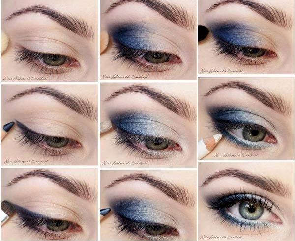 maquillaje ojos en tonos azules