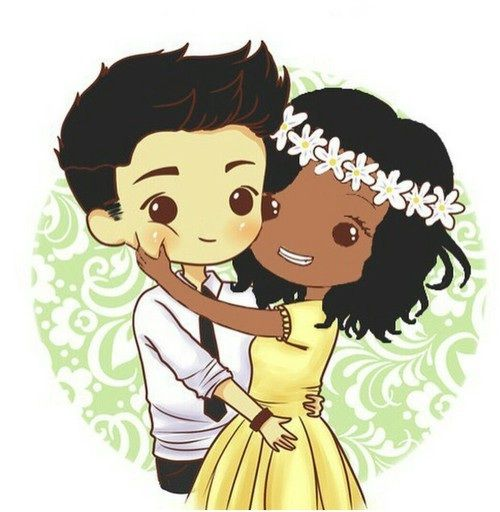 54 Best Cartoon Images On Pinterest  Interracial Couples, Bwwm And Mixed Couples-5233