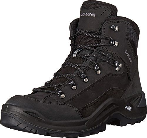 Lowa Men's Renegade GTX Mid Hiking Boot,Black/Black,10.5 M US * You can find more details by visiting the image link.