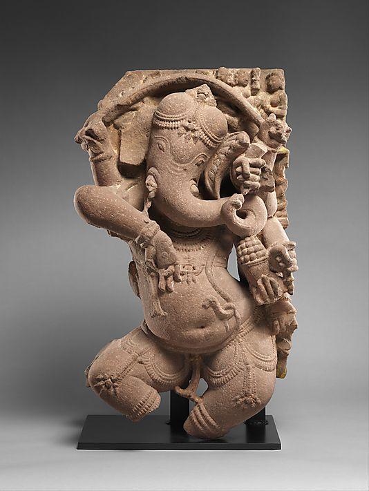Dancing Ganesha, 10th century. India (Madhya Pradesh); Kalacuri. The Metropolitan Museum of Art, New York. Gift of Florence and Herbert Irving, 2007 (2007.480.2) #dance