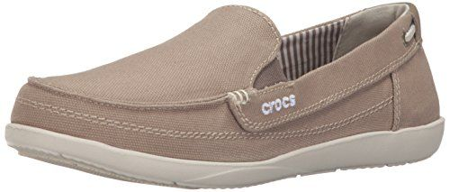 crocs Women's Walu Canvas Loafer ** See this great image @ http://www.amazon.com/gp/product/B008KYW6JQ/?tag=passion4fashion003e-20&bc=160716180006