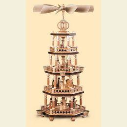 4 - stöckige Weihnachtspyramide  -  Heilige Geschichte