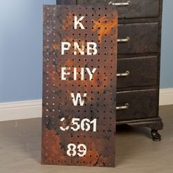 Create this awesome industrial artwork from a peg board!