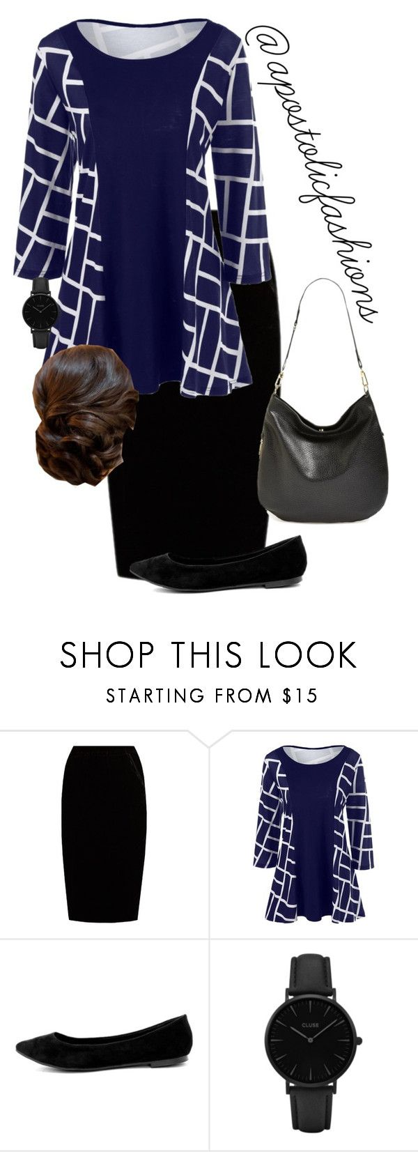 """Apostolic Fashions #1707"" by apostolicfashions ❤ liked on Polyvore featuring Jupe By Jackie, Breckelle's, CLUSE and French Connection"