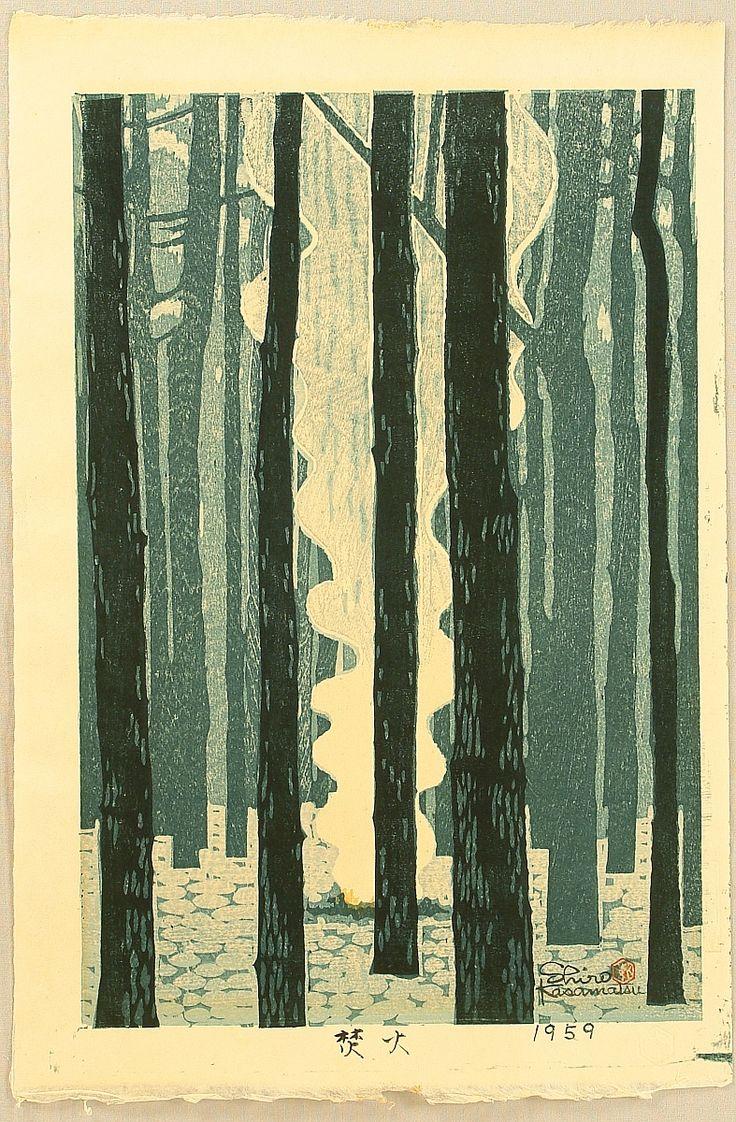 Shiro Kasamatsu 1898-1992 - Bon Fire  Artelino: