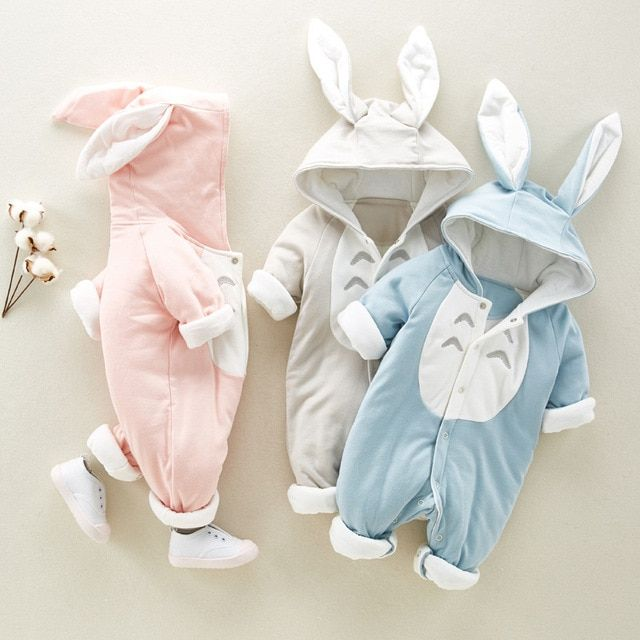 Gotd Infant Toddler Baby Girl Boy Clothes Warm Romper Jumpsuit Winter Outfit