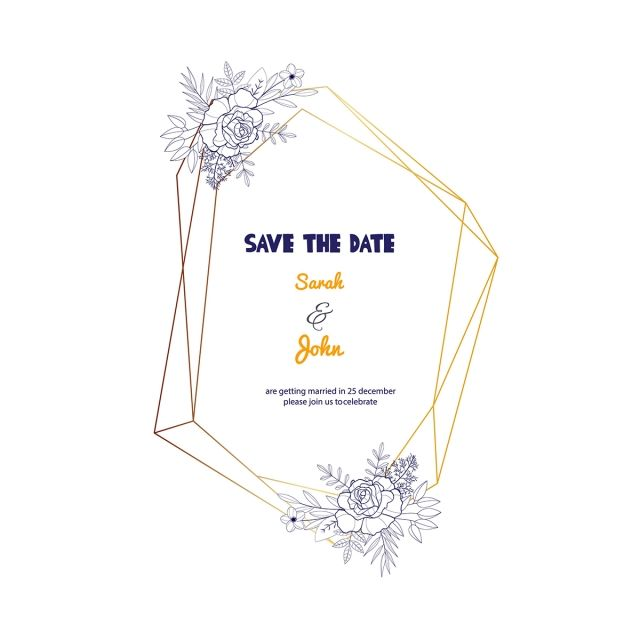 Romantic Geometric Wedding Frame Frame Wedding Wedding Invitation Png And Vector With Transparent Background For Free Download Wedding Frames Romantic Wedding Frame Geometric Wedding