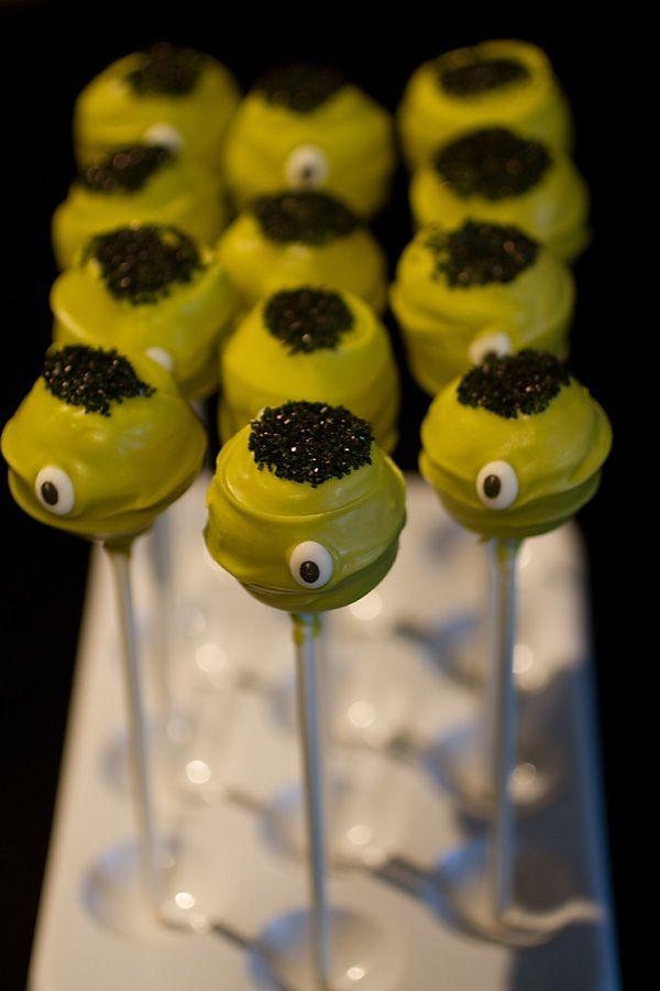 halloween cake pops   Cake pops d'Halloween à la vanille