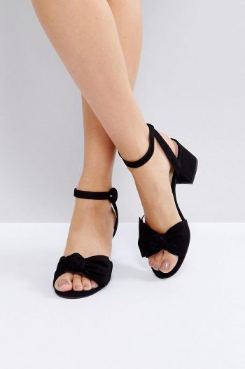 ALDO Beautie Black Mid Heeled Knot Front Sandals 93 black 220x330 Summer Sandal Ideas