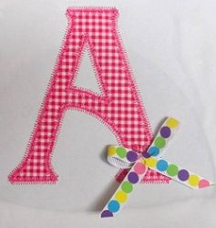Letters Applique, Add A Ribbon - 3 Sizes | Alphabets | Machine Embroidery Designs | SWAKembroidery.com Band to Bow