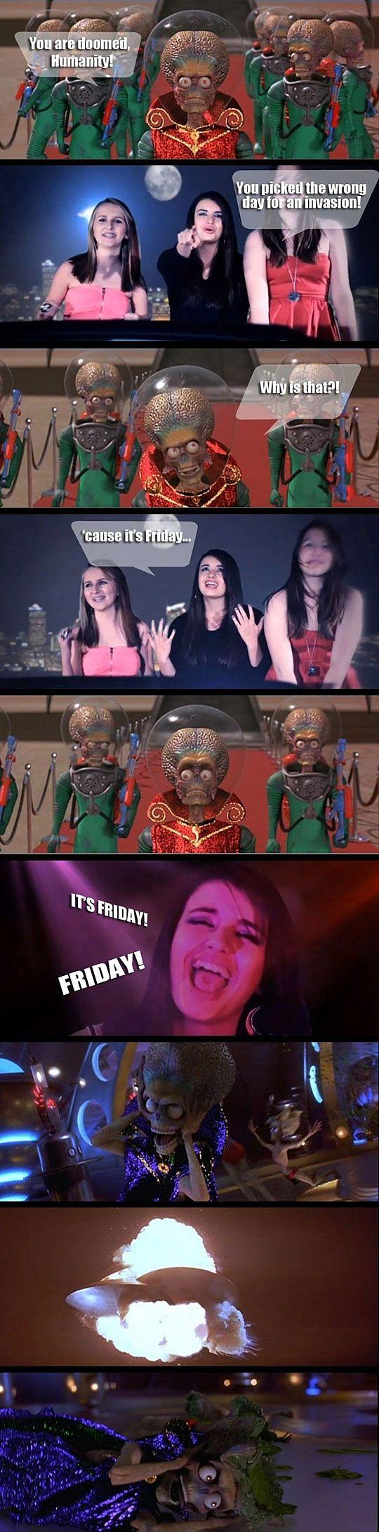 Rebecca Black vs Mars Attacks