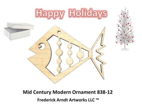 838-12 Mid Century Modern Christmas Ornament