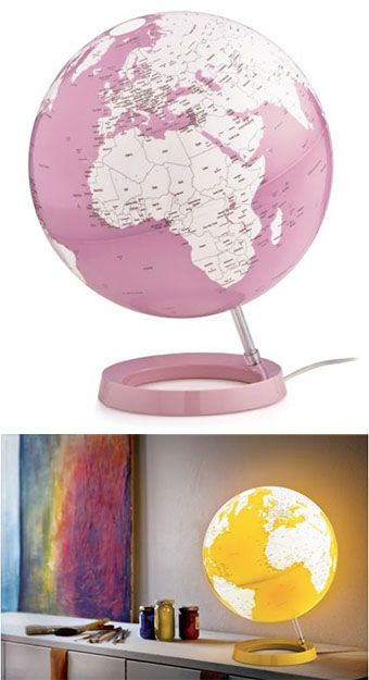 #Technodidattica #Atmosphere illuminated vintage World Globes manufactured in compliance with the highest quality and safety standards.