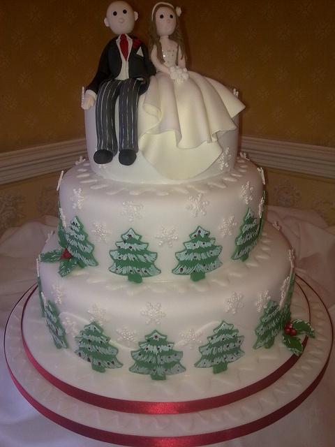 Christman Wedding Cake by Creations By Paula Jane, via Flickr