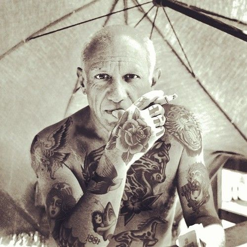"""Pablo  Photograph with """"Shopped Tattoos"""" by Cheyenne Randall http://shoppedtattoos.tumblr.com/"""
