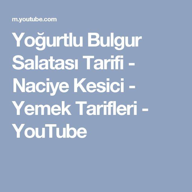 Yoğurtlu Bulgur Salatası Tarifi - Naciye Kesici - Yemek Tarifleri - YouTube