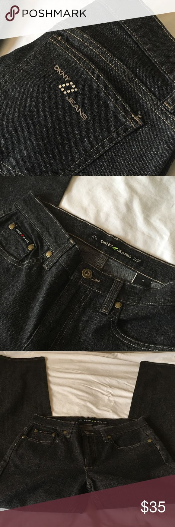 DKNY Black Wash Stretch Boot Cut Jeans Donna Karan Off Black Stretch Boot Cut Jeans. Size 4. 2% spandex. NWOT Never worn. DKNY Jeans Boot Cut