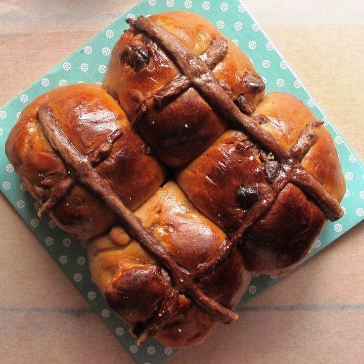 Chocolate chip hot cross buns - an Australian Easter favourite!