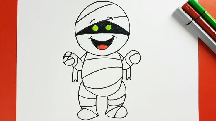 Maithly16so cute halloween mummy drawing httpswww