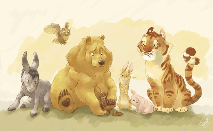 Slightly more realistic Winnie the Pooh Friends by Claire Gary - love Tigger!