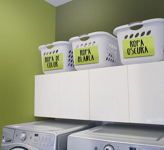 Canastas de plástico para separar las prendas de acuerdo a sus tipos