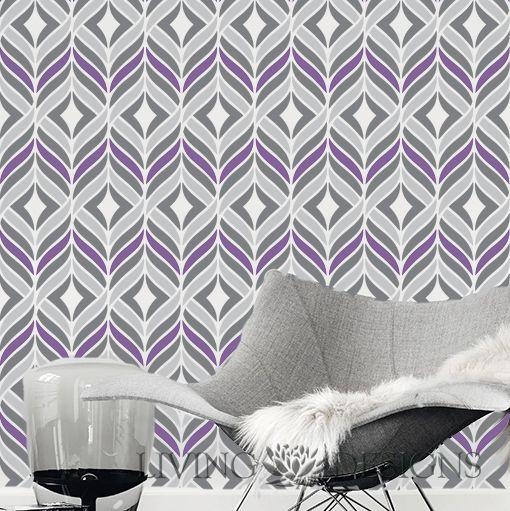 Plantillas Decorativas para pintar paredes y crear efectos como el papel tapiz y vinilos decorativos, solo necesitas pintura acrilica/vinilica, rodillo y listo!