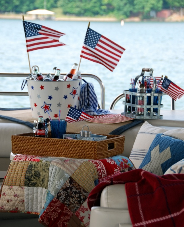 Patriotic Lunch on the Boat