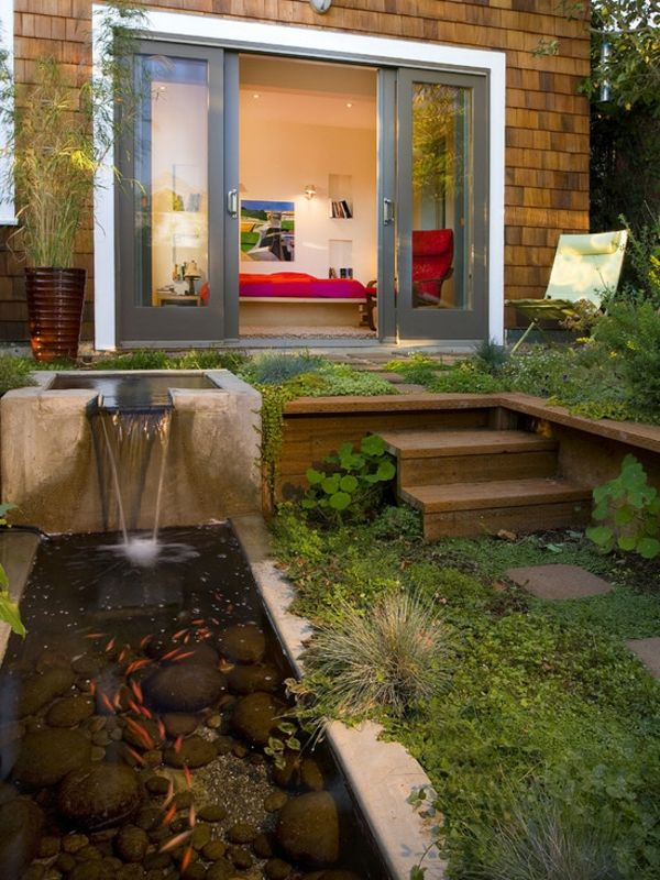 34 best Fontaine images on Pinterest Bathroom, Antique furniture - gravier autour de la maison
