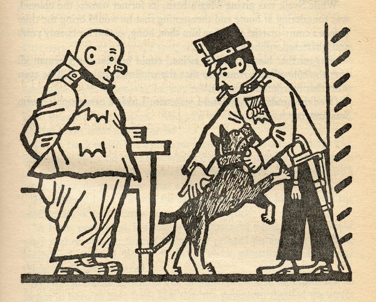 """Illustrations for """"The Good Soldier Švejk and His Fortunes in the World War"""" by Josef Lada"""