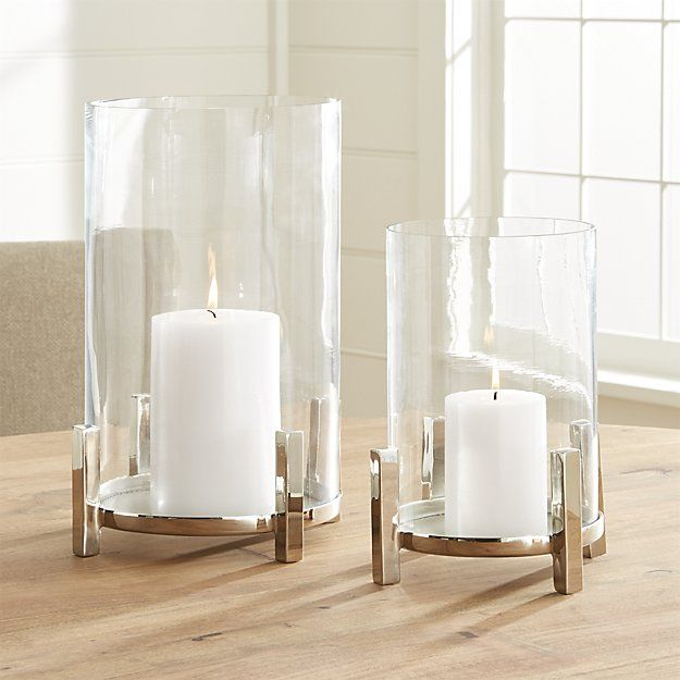 Ezra Hurricane Candle Holder | Crate and Barrel