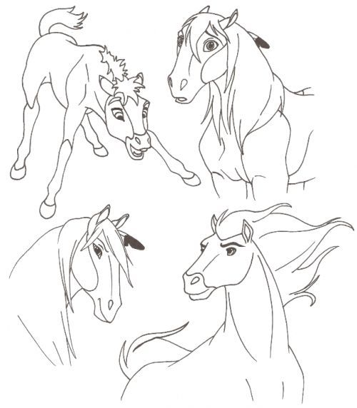 Coloring Pages Of Spirit Animals : Best spirit coloring pages images on pinterest horse
