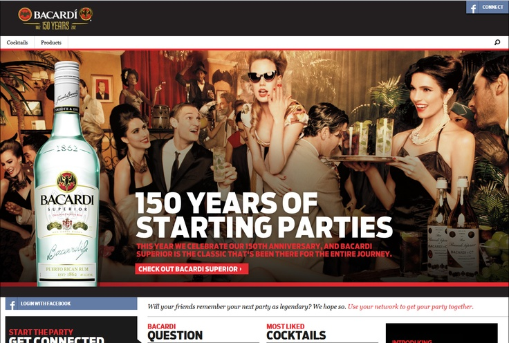 Top 10 Kentico Websites for May 2012 http://devnet.kentico.com/Blogs/Lenka-Navratilova/June-2012/Top-10-Kentico-Websites-for-May-2012.aspx Bacardi.com  Implemented by:  AgencyNet, ACAP Software Development & Bluemodus, USA  Kentico Certified and Gold Partners