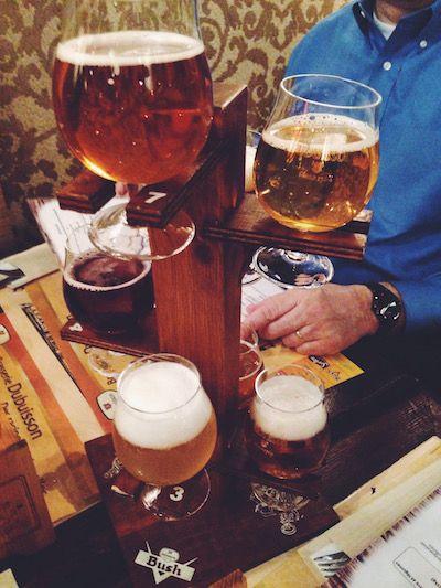 Belgian Beer at Le Brasse Temps - Louvain-La-Neuve, Belgium