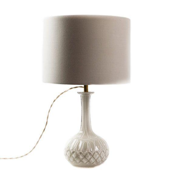 Victorian Ivory Crystal Lamp by TygerDesign on Etsy