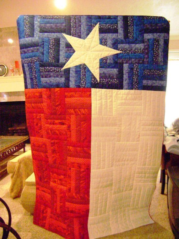 Texas Flag Quilt by itsalindy on Etsy