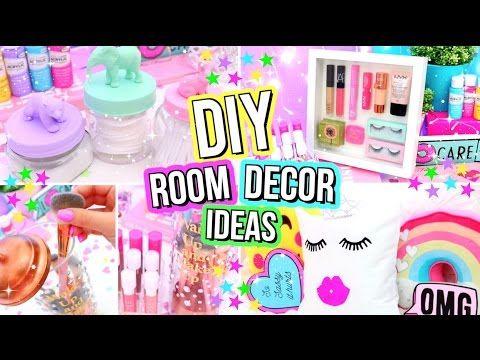 DIY ROOM DECOR IDEAS! Easy & Fun 5 Minute DIY's For Your Room! Summer Room Decor! - YouTube