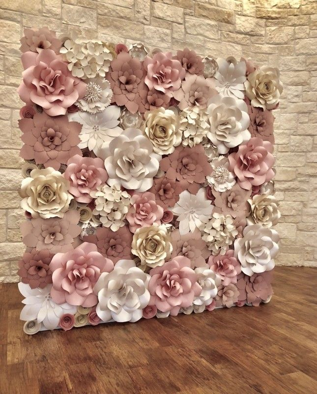 Paper Flower Wall Rental Paper Flower Wall Rentals And Paper Flower Arch Rental For Weddings Br Flower Wall Wedding Flower Backdrop Wedding Flower Wall Rental