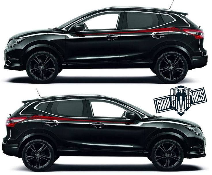 2X Sport Sticker Decal Side Door Stripes for Nissan Rogue