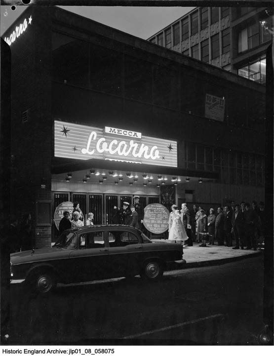 HE Archive on Twitter: The Locarno Mecca Ballroom in #Birmingham showing guests queuing to enter a ball / dance. August 1960.