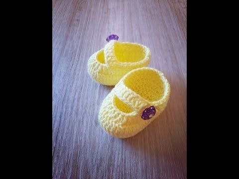 No 178# Buciki na szydełku dla lalki lub noworodka - crochet boots for baby or doll - YouTube