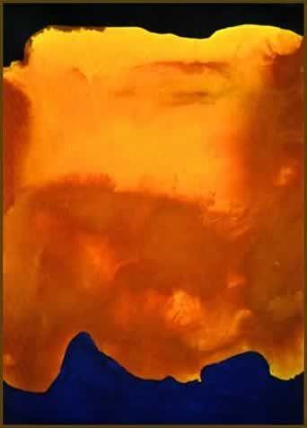 helen frankenthaler, magic carpet, 1964, 96x68 inches, Acrylic on canvas