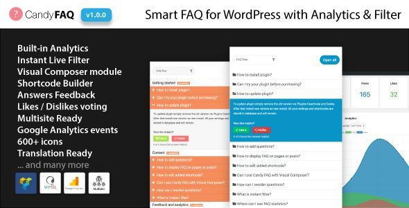 Candy Faq Smart Wordpress Faq With Analytics And Instant Search