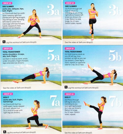 Self Magazine's Drop 10 Workouts #workout #fitness #healthy