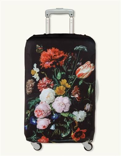 Still Life With Flowers Luggage Cover -  Lest there be confusion at baggage claim...a Dutch master-piece transforms an ordinary suitcase into a timeless work of art.